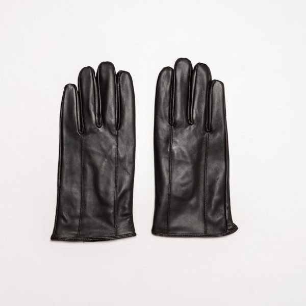 This image shows a pair of Barneys Originals Brown Leather Gloves