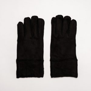 This image shows Barneys Originals Men's Real Suede Gloves in Black.