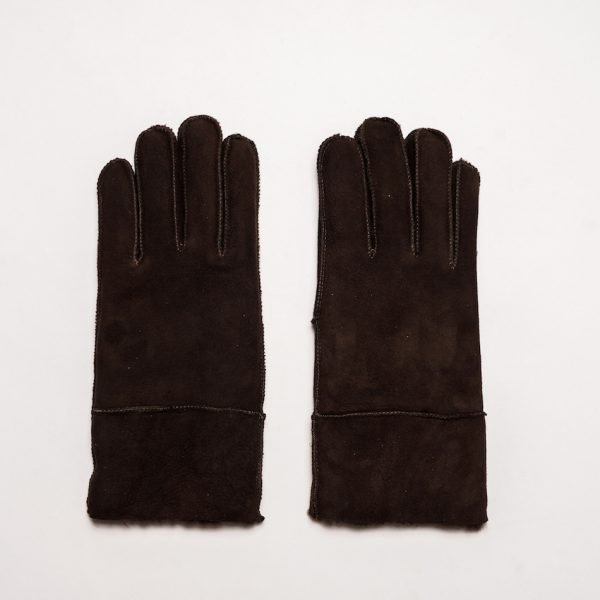 This image shows a Barneys Originals Men's Real Suede Gloves in Black