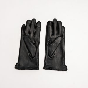 This image shows Barneys Originals This image shows Barneys Originals Women's Real Leather Gloves in Black With Fingerprint Technology