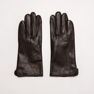 This image shows Barneys Originals Women's Real Leather Gloves in Brown With Screen Touch Technology