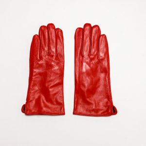 This image shows Barneys Originals Women's Real Leather Barney's Original's Gloves in Red