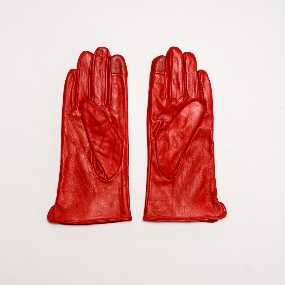 This image shows Women's Real Leather Barney's Original's Gloves in Red