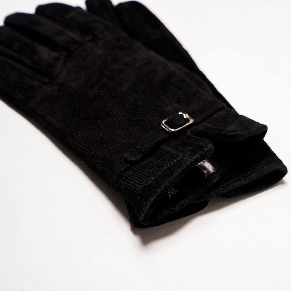 This image shows Barneys Originals Women's Real Suede Gloves in Black