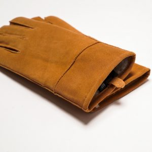 This image shows Barneys Originals Women's Real Leather Gloves in Dark Tan