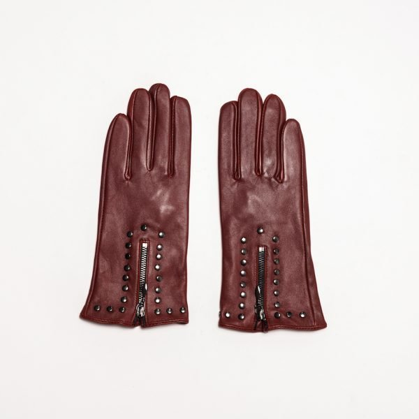 This image shows Barneys Originals Women's Real Leather Gloves in Burgundy