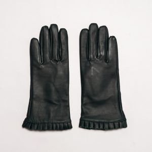 This image shows Barneys Originals Women's Real Leather Gloves in Forest Green
