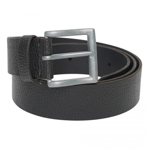 This image shows a Men's Real Leather Black Barney's Original's Belt