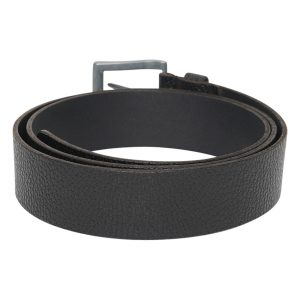 This image shows a Men's Real Leather Black Barney's Original's Belt. T