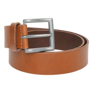 This image shows a Men's Real Leather Barney's Original's Light Brown Belt.