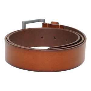 This image shows a Men's Real Leather Barney's Original's Light Brown Belt
