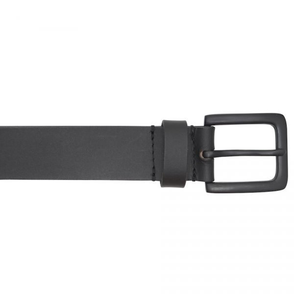 This is an image of a black Barneys Originals belt. The belt has a matte black buckle.