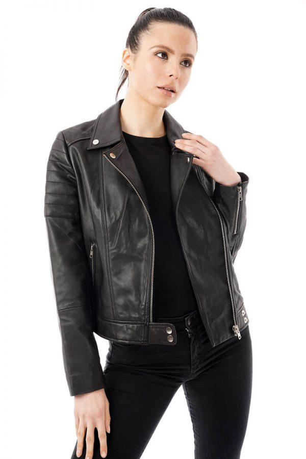 Image shows what the jacket looks like unzipped.