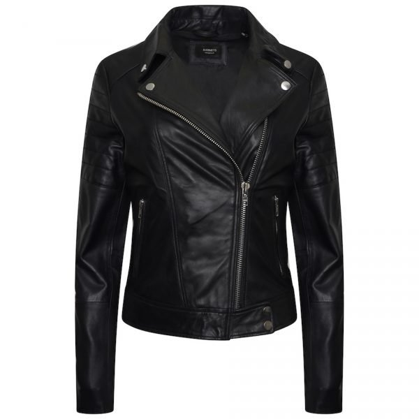 black jacket with barneys logo
