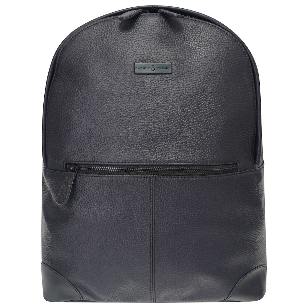 This image shows a black Barney & Taylor backpack.