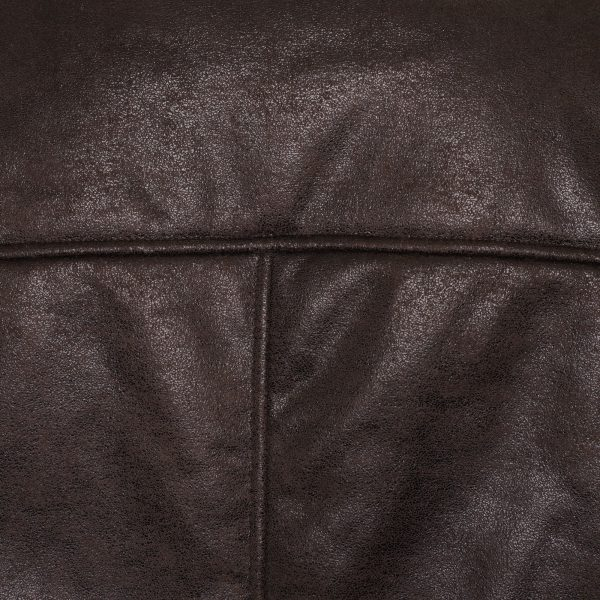 This image shows the Barneys Plus size faux shearling jacket zoomed in.