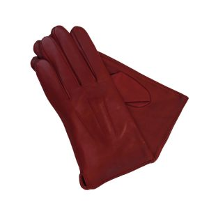 This image shows a pair of womens, red, Barneys Originals Gloves
