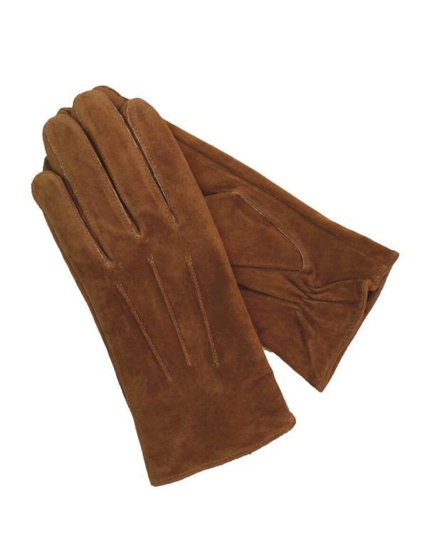 This image shows Barneys Originals women's suede leather gloves