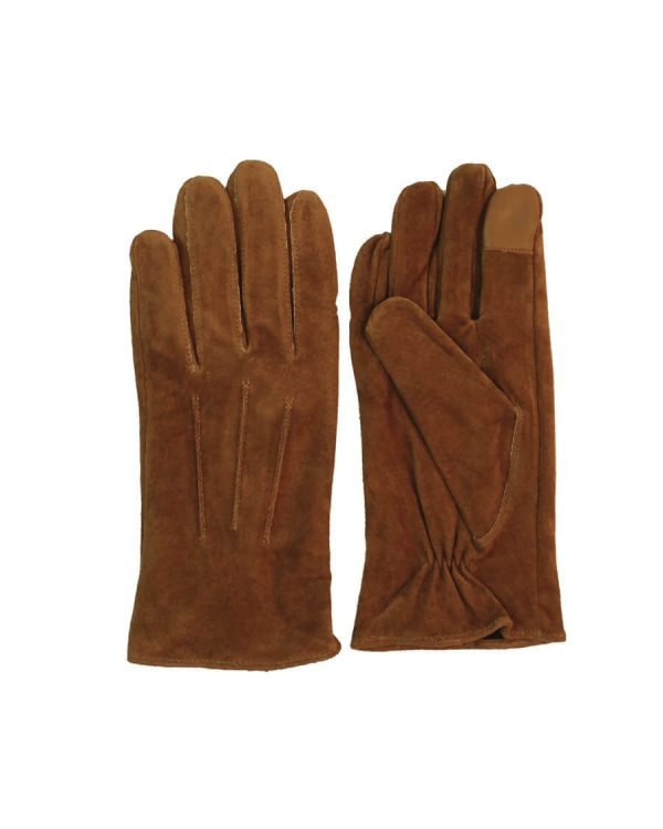 This image shows Barneys Originals women's leather suede gloves