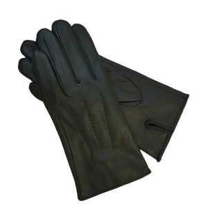 This image shows a Barneys Originals Green leather glove