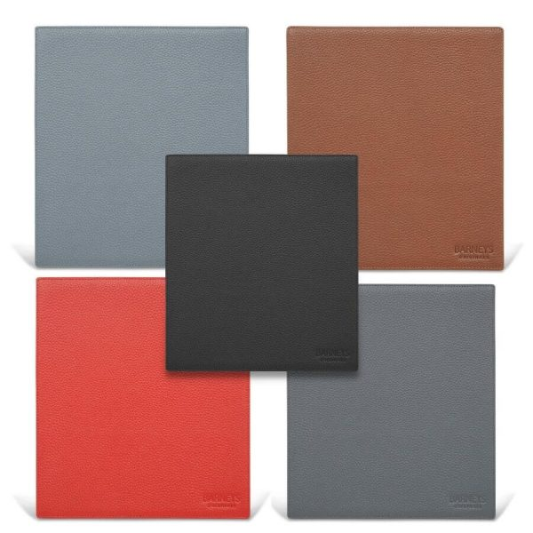 Image displays the various colour options available for the Barneys Originals mouse mat collection.